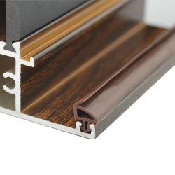 튼튼한 장식적인 Windows 문 단면도, 부엌 문을%s 목제 곡물 표면 알루미늄 단면도