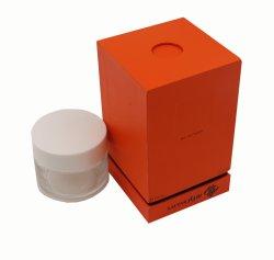 Оранжевый квадрат мелованная бумага упаковка подарочная упаковка вставной держатель духи
