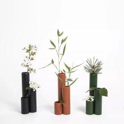 Neue Mode Einfache bunte runde Metall Vasen für Home Decorative Kunsthandwerk Muster Raumgestaltung