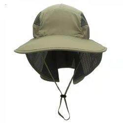 2021 Nouveau Printemps et été version coréenne de capuchon de protection solaire extérieure à séchage rapide de la pêche de loisir respirants Hat vert