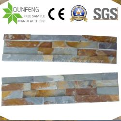 China Split Natural de la superficie de piedras apiladas oxidados del panel de chapa de revestimiento de pared de pizarra