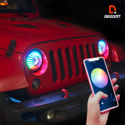 """Carro de LED de luz LED de Autopeças Revisão faróis LED melhor Kit de conversão dos faróis 7""""APP Control perseguindo as luzes de LED de luz para veículos"""