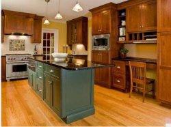 Óptimo Novo Projeto elegante Armários de cozinha em madeira maciça com cestas de Puxar Elétrico