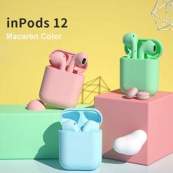 سماعات أذن I12 ملونة من Infods سماعات الأذن الصغيرة اللاسلكية Macaron من نوع I12 من Infodes الحوامل I12 TWS