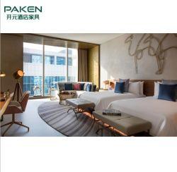 Moderner zeitgenössischer Hotel-Schlafzimmer-Bett-Luxuxraum stellt Möbel ein