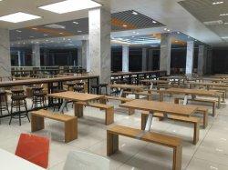 A cafetaria do banco de bambu elegante cadeira de mesa móveis de restaurante