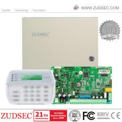 熱い販売の二重ネットワークホームセキュリティーの警報システムのためのCmsが付いているGSM&PSTNの無線のおよびワイヤーで縛られたアラームコントロール・パネル