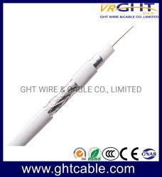 75ohm 21AWG CCS 백색 PVC 동축 케이블 Rg59