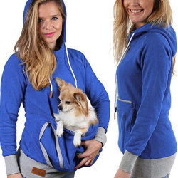 Unisex Kangaroo Pet Dog Cat Holder Pouch Pocket Cotton Blouse Hoodies