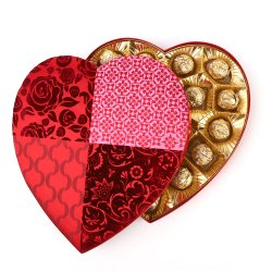 High-End van de Douane van Wholesales de Verpakkende Doos van het Suikergoed van de Chocolade van de Vorm van het Hart van de Stof