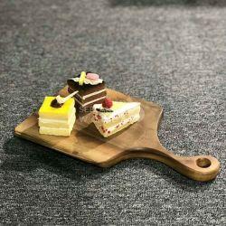 Para picar/Corte de madeira maciça/ Servindo Board com o Live Edge para alimentos