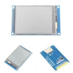 3.2 pulgadas de 320 * 240 8bits o 16bits interfaz paralela LCD TFT controlador módulo de visualización en pantalla con panel táctil