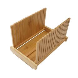 Taglierina per tagliere di pane di bambù con taglierina pieghevole per scatole di fette E taglierina di lama tagliatrice di pane di bambù taglierina affettatrice con crumb Catcher