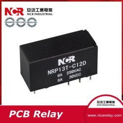 12V 8A PCB Mini Eléctrico/relé El relé 12V 8A (NRP13T)
