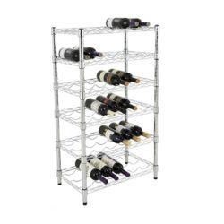 Fabrik Preis 4 Schichten Lagerung Wein Display Regal Chrom Ständer Drahtgestell