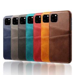 حقيبة غطاء خلفي رفيعة من الجلد مزودة ببطاقة مزدوجة فتحة لجهاز Samsung Galaxy S10 S20 Plus S20 Ultra