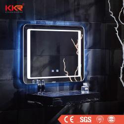 Das genehmigte Cer entnebelt Verfassungs-Spiegel der 5mm Splitter-Glasdes badezimmer-LED