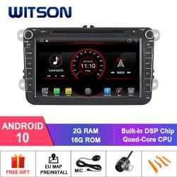 De vierling-Kern van Witson de Androïde Navigatie van de 10 Auto DVD voor de Ingebouwde Module WiFi van VW B6