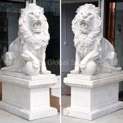 Venda por grosso de fábrica tamanho e cor personalizada esculpir a pedra mármore esculturas de Leão (GSS-272)