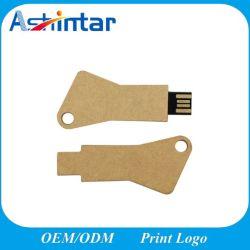 Ecológica de promoción de la memoria USB 2GB 4GB 8GB 16 GB de forma clave Mini USB Pen Drive