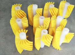 بكرة فرشاة مخصصة ذات شكل حلزوني باللون الأصفر