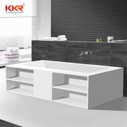 Bad-Badewanne mit fester Oberfläche und Handtuchhalter