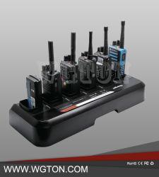 Walkie Talkie seis vías de la unidad Multi Charger Cargador universal de la estación de radio bidireccional