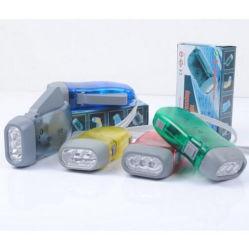 Мини-защита окружающей среды 3 светодиодных индикатора ручного пресса электроэнергии фонарик