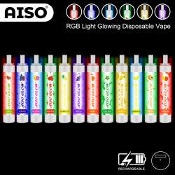 E-Liquid 8.5ml de bolitas de luz LED 2600 Divertido Vape, batería recargable de iluminación LED intermitente de la pluma de Vape