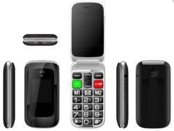전시는 이중으로 한다 중국 Factory_W5 (3G)에서 단 하나 SIM를 가진 2.4inch LCD +1.77inch LCD 3G 고위 전화를 가진
