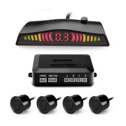 Visor LED Radares instalados em automóveis de sinal sonoro de auxílio de marcha 4 carro ultra-sónico traseira automática do sensor de Estacionamento Sistema de kit