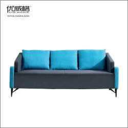 Ocio moderno Tela/Cuero sofá de la Oficina para La Empresa Sala de reuniones con los pies de hierro