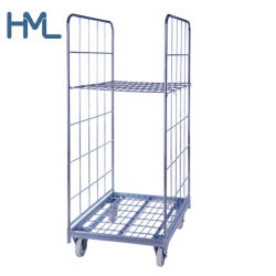 Logistique personnalisée Wire Mesh Rolltainer rouleau de pliage pour la vente de la cage