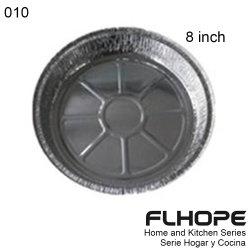"""[010] 8 """" vaschette rotonde del di alluminio"""