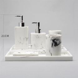 カスタム熱い販売によっては使用のPolyresinの浴室セットが家へ帰る
