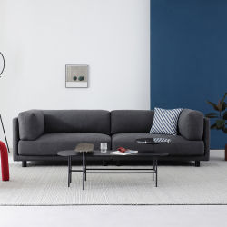 Super Macio Sala Escura 123 tecido do assento Modern sofá Chesterfield Design Sofá