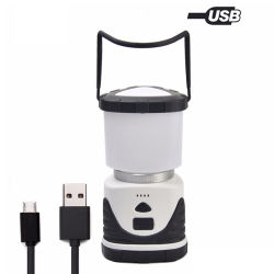 Carregamento USB portátil ao ar livre 3 modos de iluminação da Luz de Campo Camping lanterna LED