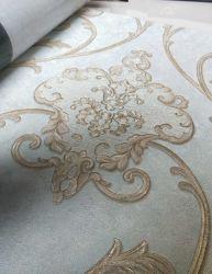 Damasco europeia Flower Vinil Adesivo de parede de PVC impermeável Eco-Friendly Wallpaper