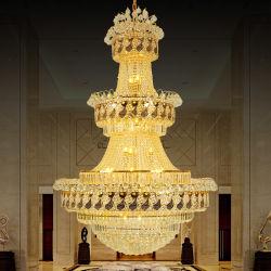 نوع ذهب إمبراطورية [فرنش] بلّوريّة ثريا ثريات مشروع إنارة ([وه-نك-04])