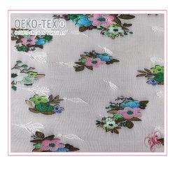 Varios colores Imprimir tejidos de nylon tejido elástico de encaje