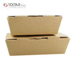 Zoll gedruckter gewölbter Umweltschutz-Nahrungsmittelverpackungs-Papierkasten