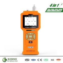 Détecteur de gaz portable Multi 4 en 1 pour la qualité de l'air intelligent (EX, O2, CO, H2S)