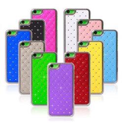 Bling cristal de diamant Soft Gel de silicone le couvercle en caoutchouc de la peau Étui pour iPhone 5C dans des couleurs différent