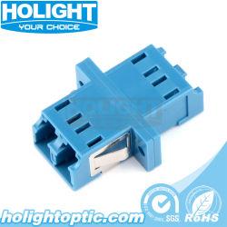 Adaptateur de SM avec embase LC Dx les connecteurs de câble à fibre optique