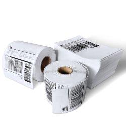 Etichetta bianca bianca per spedizione termica diretta in vendita a caldo, 4 pollici X 6 pollici, 1000 PEZZI per rotolo