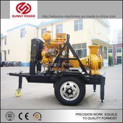 디젤 엔진을 통해 구동되는 원심 펌프에 의한 용수 공급 장비