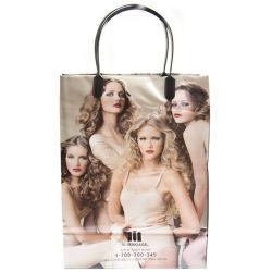 2015 Plastic Zak, de Zakken van het Handvat van de Klem, het Winkelen Zakken, de Zakken van de Gift, PromotieZakken (HF-175)
