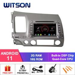Honda용 Witson 쿼드 코어 Android 11 DSP 카 DVD 플레이어 민간 LHD Capactive 1024 * 600 스크린