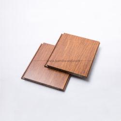 Natürlicher karbonisierter vertikaler horizontaler Strang gesponnener Bambusbodenbelag