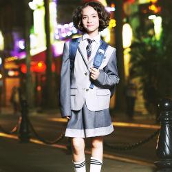 Personnalisés uniforme scolaire des enfants Blazer enduire